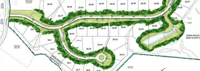 Summit View residential subdivision renderings
