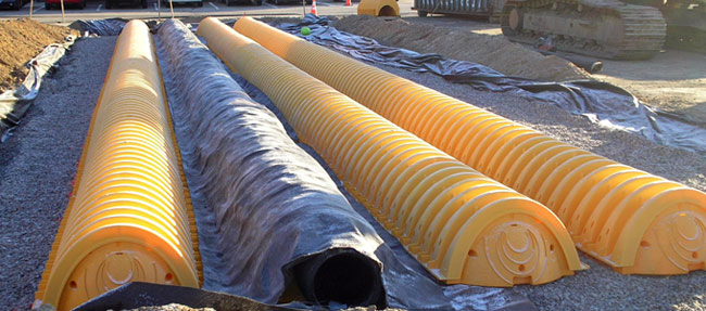 stormwater infiltration chambers